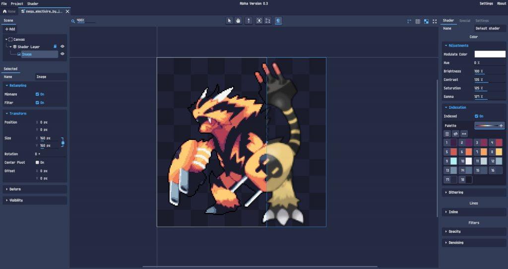 PixelOver, transformer des assets en pixel art