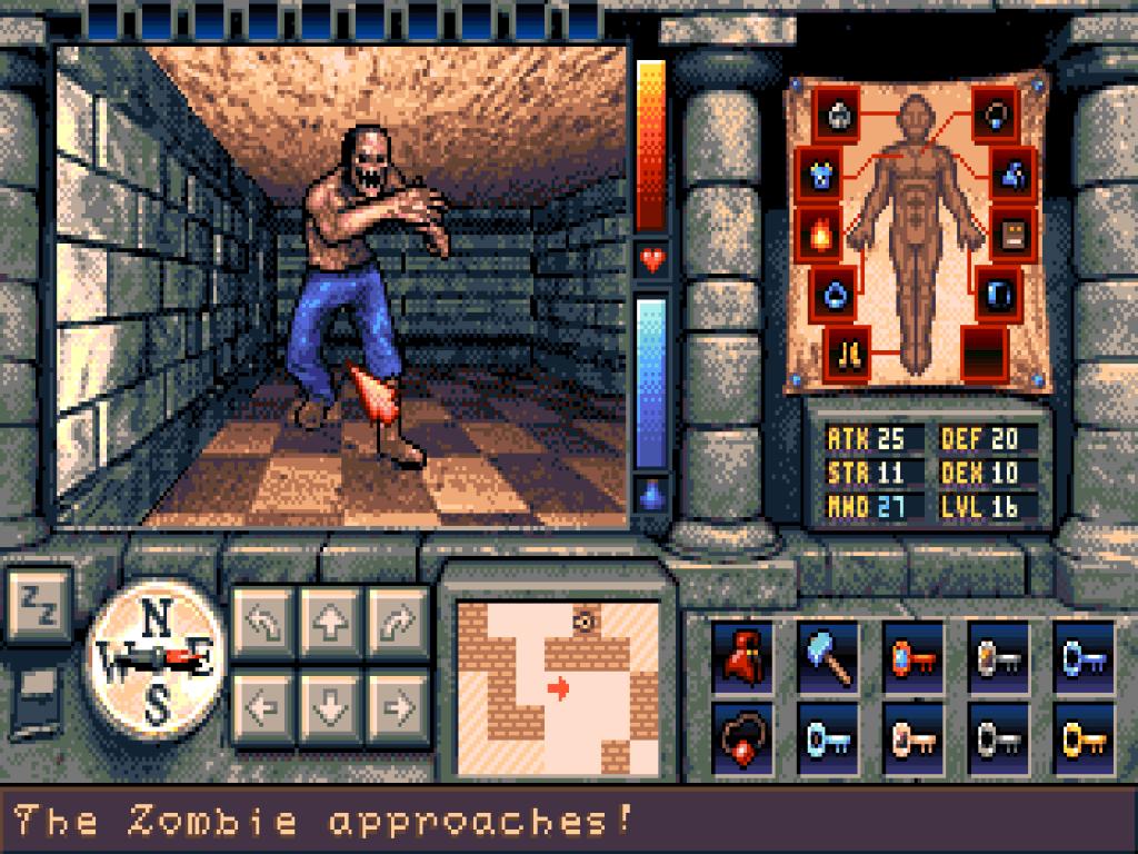 The Shadows of Sergoth, un dungeon crawler pour Amiga